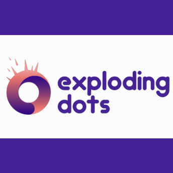 This is an image of the Exploding Dots icon and a link to the Exploding Dots website.