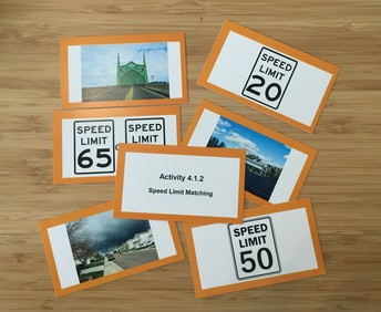 Speed limit matching cards