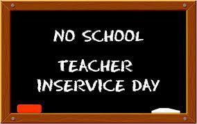 No School Wednesday, October 2, 2019