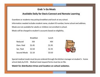 Grab 'N Go Lunch Information