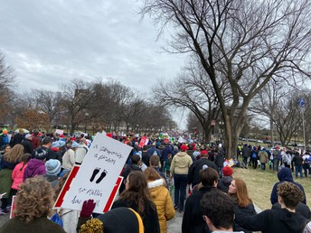 A few photos have made their way back to the school from the March for Life today.