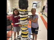 Our completed monarch caterpillar