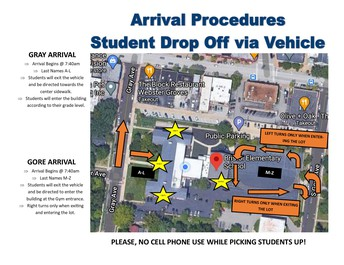 Arrival Vehicle Drop Off