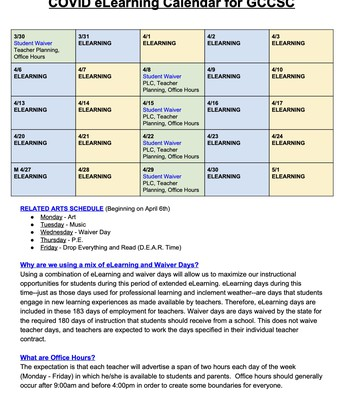 eLearning Calendar - GCCSC
