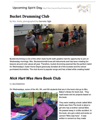 Student Newsletter- Page 2