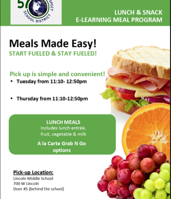 E-LEARNING MEAL PROGRAM