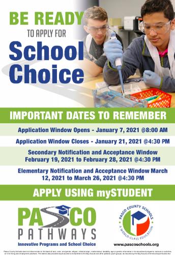 Pasco Pathways School Choice & Innovative Programs Window!