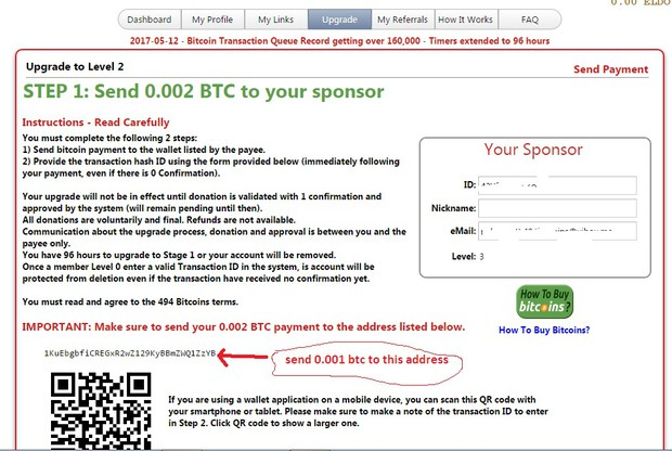 Earn 01 btc per day smore newsletters after payment conform transaction hash id ccuart Gallery