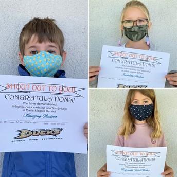 1st Grade Shout Out Award Winners