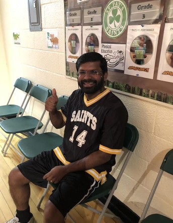 Grade 4 Basketball - Staff vs Student Game (Special Guest Player Father Joby!)