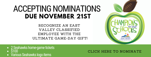 Click here to nominate a classified employee for the Champions in our Schools award.