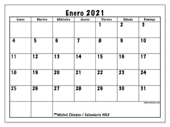 Enero calendario