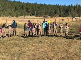 CES students geared up with waders - ready to improve some aquatic wetlands!