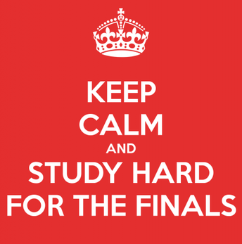 Thursday and Friday, December 13 & 14 are Finals Schedule