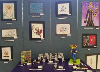 Lake Park Comic Con--Westfield student art display