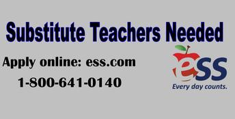 Substitute Teachers are Always Needed!