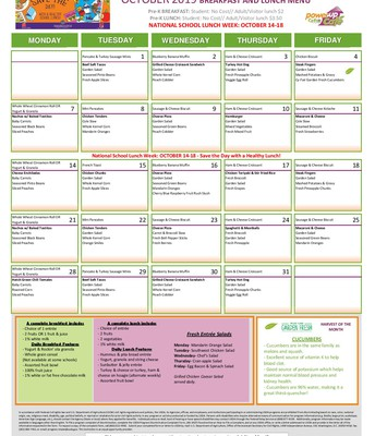 Prek Sept. Menu