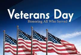 We are encouraging staff and students to wear Red, White & Blue in honor of Veteran's Day on Monday!  /  ¡En honor del día de los veteranos este lunes, vestiremos de los colores rojo, blanco y azul!