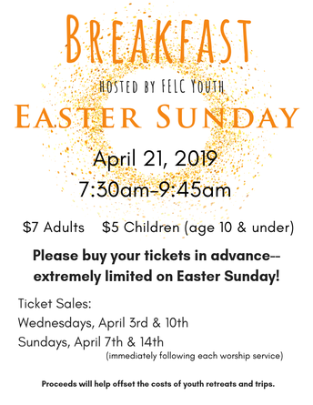 Easter Breakfast Tickets On Sale