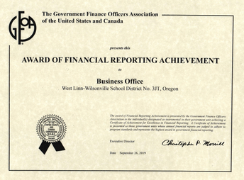 School District Receives Certificate of Achievement for Excellence in Financial Reporting for 26th-Straight Year