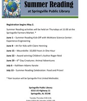 Join us for Summer Reading fun!