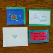 Handmade cards were sold