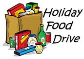 Nov. 25th ~ Dec. 6th Food Drive