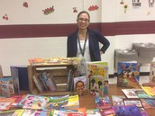 Ilse Flores assisted at the Book Swap
