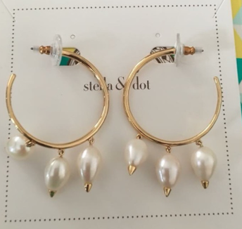 Natriella Pearl Hoops