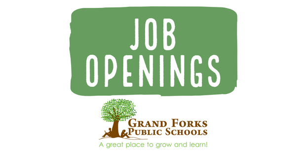 Job Openings with the Grand Forks Public Schools' logo.
