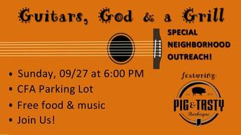 Free Food, Music, and Fellowship!