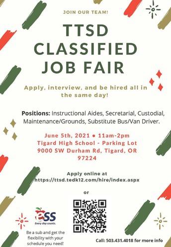 TTSD Classified Job Fair