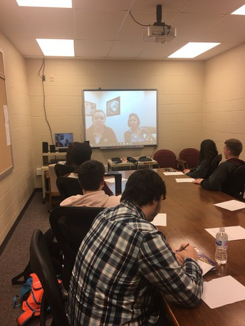 Law Class Skypes with Expert