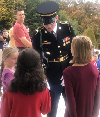 Tomb Guard Thanks Students and Shakes Each Student's Hand