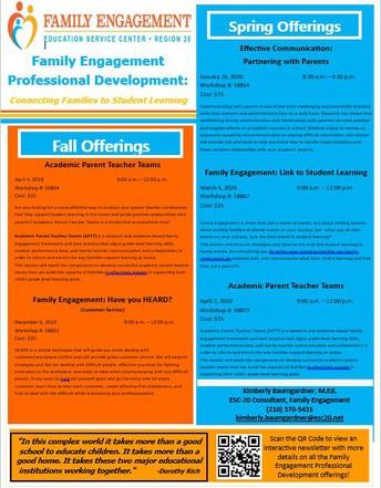 Family Engagement Teacher/Administrator Training