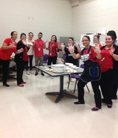 Teachers who assisted with the spaghetti dinner