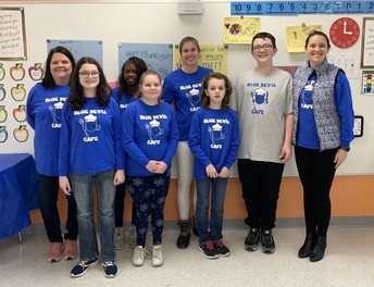Blue Devil Cafe Serves Special Meal to RMS Staff
