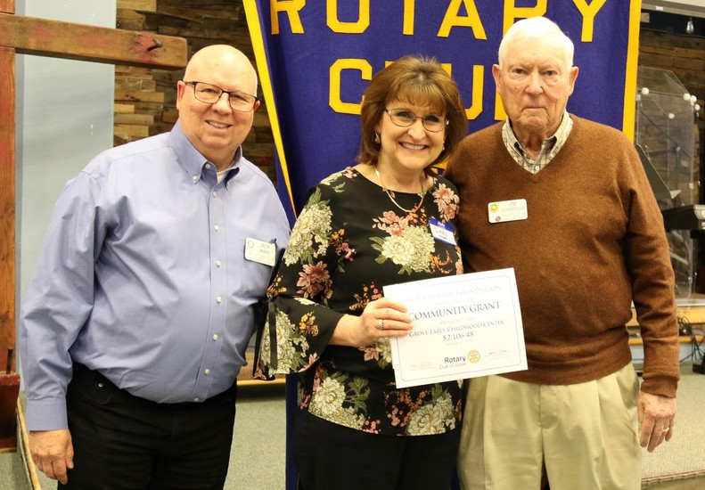 Thank you Grove Rotary for funding a grant for the Pre-K STEM and P.E. classes!