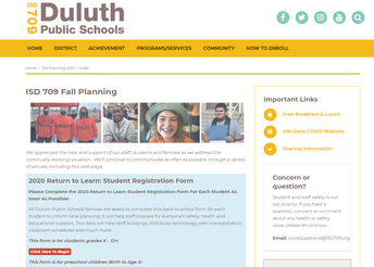 2020 Return to Learn Resources