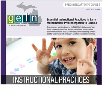 Essential Instructional Practices in Early Mathematics