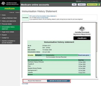 Immunisation Records