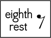 eighth rest = silencio de corchea