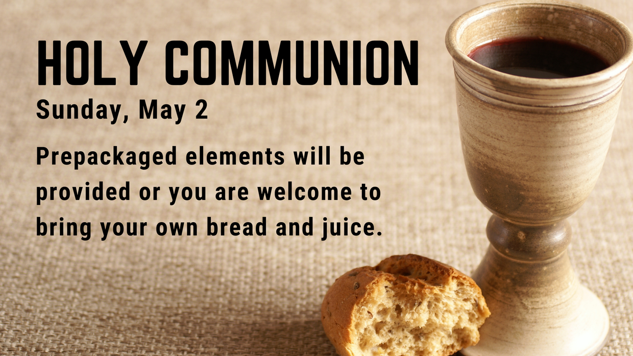 Holy Communion on May 2