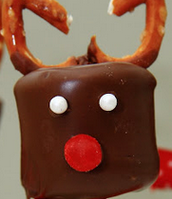 Reindeer Chocolate Covered Marshmellow