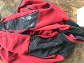 Red and black Columbia jacket size 10/12