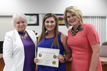 Recognition of Jessie Karl's Support Our Students- Back to School Event