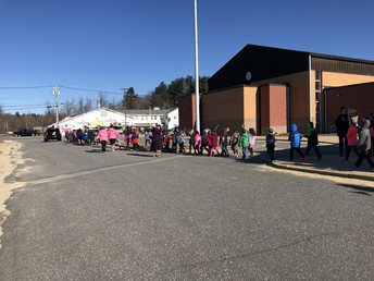 Our students celebrate Ella with a parade!