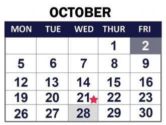 Calendar update: Oct. 14 is a school day for all grades