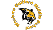 The gold and black Western Guilford Middle School Tiger logo