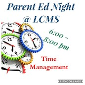 Time Management Parent Ed Night ~ Nov. 16